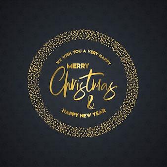 Disegno di merry christamas con il vettore di design creativo