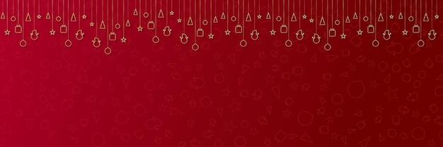 Buon natale banner o invito a una festa sfondo buon natale vettoriale con copia spazio per tex...
