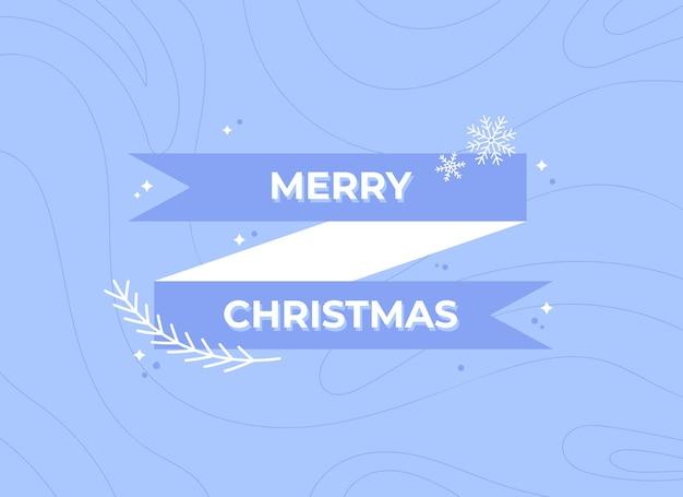 Banner di buon natale con nastro