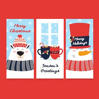 Cartoline di natale allegre