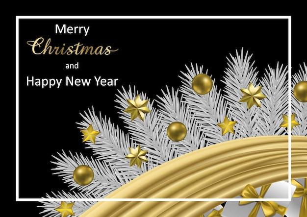 Biglietto di auguri di buon natale e felice anno nuovo