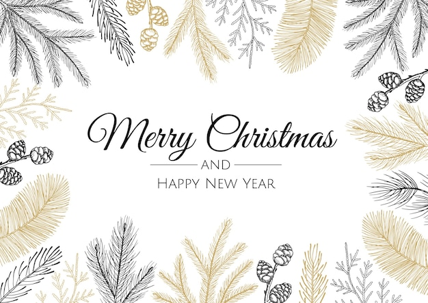 Insieme di modelli di logo, etichette o segni astratti di buon natale e felice anno nuovo.