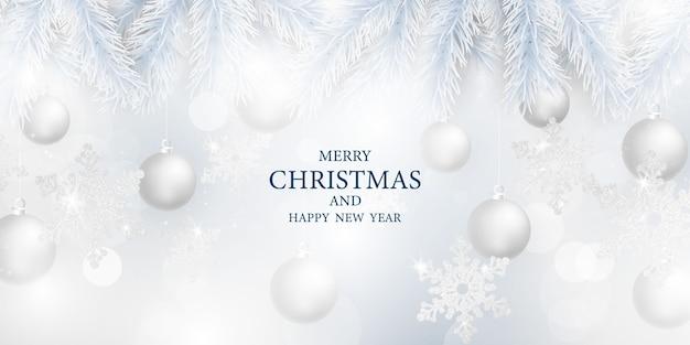 Buon natale e felice anno nuovo sfondo. modello di sfondo celebrazione con. saluto di lusso