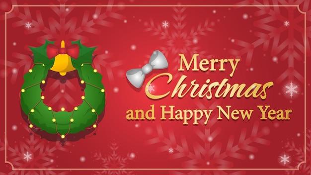 Modello di banner di buon natale e felice anno nuovo