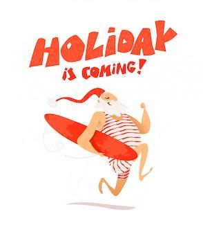 Buon natale e felice anno nuovo congratulazioni. . stile cartone animato. buono per cartolina di natale, carta, pubblicità, flayer,.