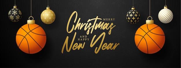 Buon natale e felice anno nuovo biglietto di auguri sportivo di lusso