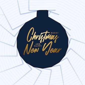 Buon natale e felice anno nuovo concetto creativo minimo di natale