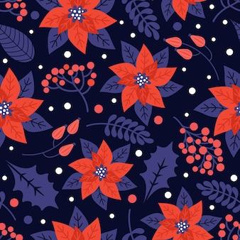 Buon natale e felice anno nuovo seamless pattern