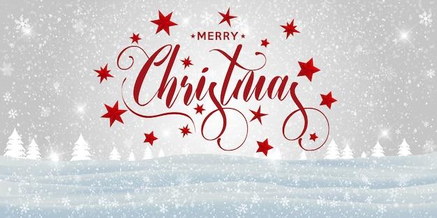 Buon paesaggio natalizio.