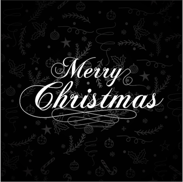 Disegno di lettering merry christmas