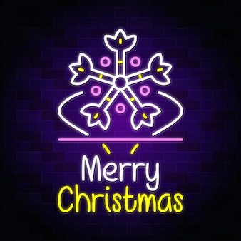 Buon natale neon design, neon text sign vector -
