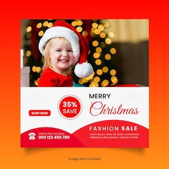 Buon natale nuova moda vendita post sui social media o modello di progettazione banner web