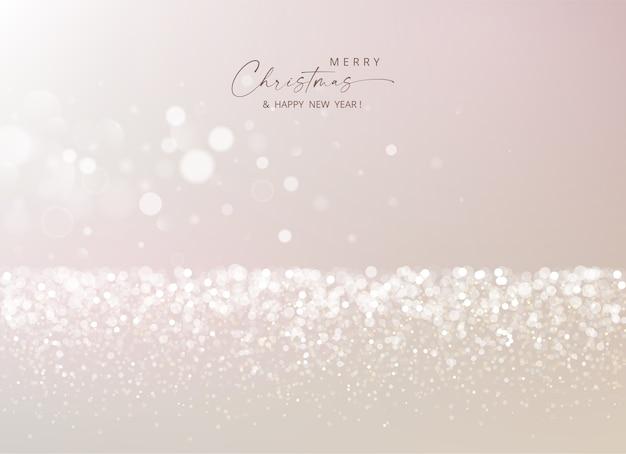 Fondo astratto di buon natale e anno nuovo con luci glitter e scintille