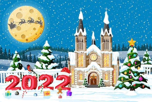 Biglietto di auguri per le vacanze di buon natale e capodanno