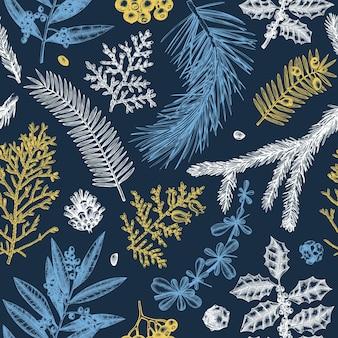 Buon natale seamless pattern