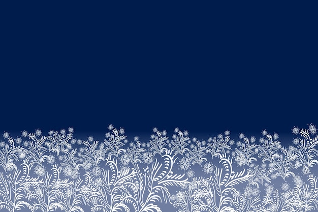 Buon natale vorticoso effetto neve con realistici fiocchi di neve bianchi brillanti
