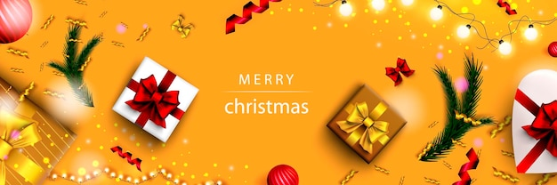 Buon natale banner web natale e felice anno nuovo 2022 poster per le feste natalizie