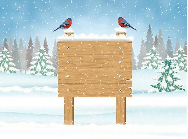 Cartello in legno di buon natale
