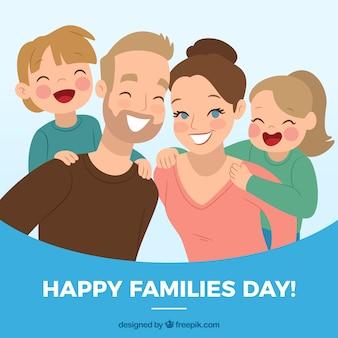 Famiglia buon giorno sfondo