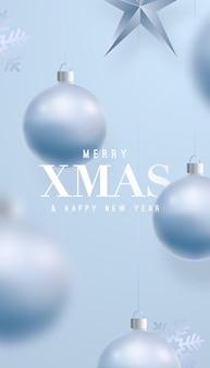 Banner festivo di buon natale e felice anno nuovo