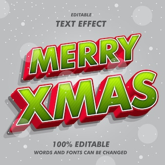 Merry xmas text effects