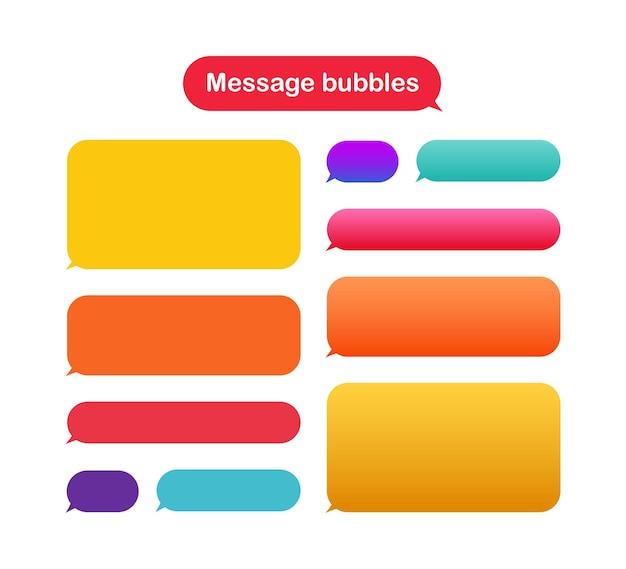 Modello di progettazione di bolle di messaggio per chat di messaggistica.