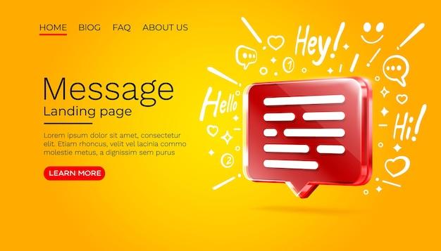 Messaggio con molte icone chat per la comunicazione di persone vettore