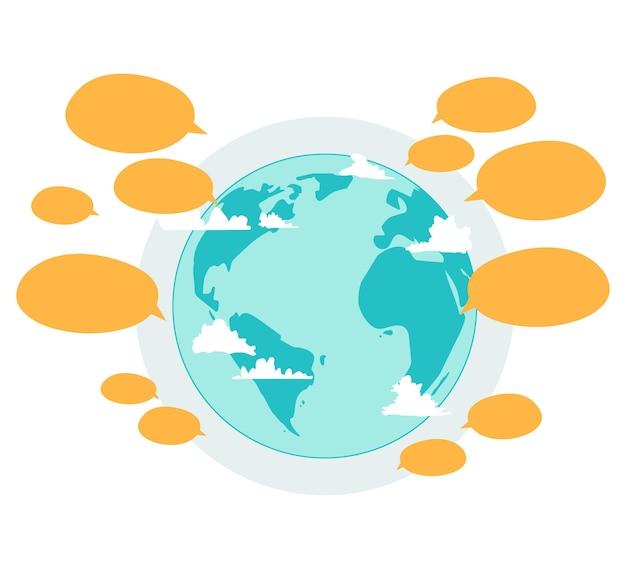 Messaggi in tutto il mondo