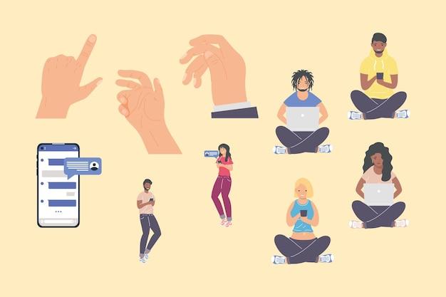 Raccolta di icone di messaggistica