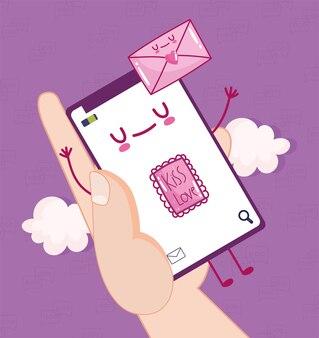 Messaggiare l'amore con il cellulare