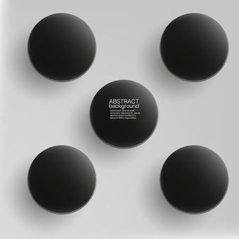 Barili di metallo, scatola metallica di plastica su sfondo bianco, illustrazione