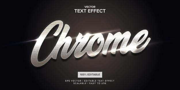 Effetto di testo modificabile premium in metallo cromato