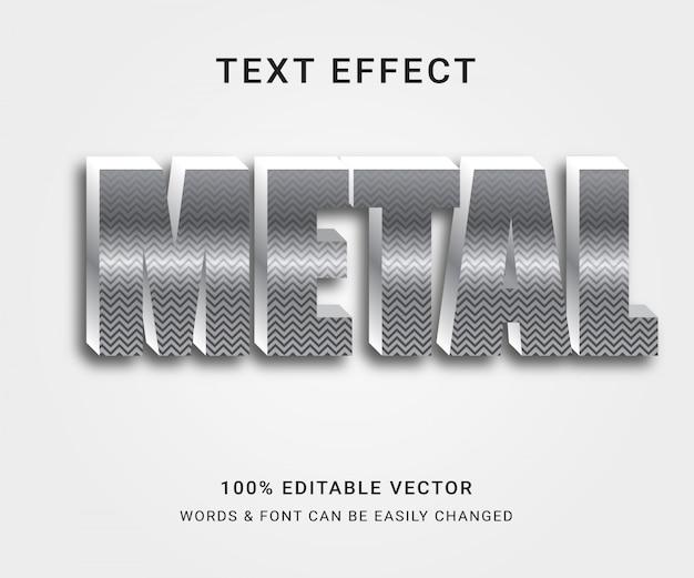 Effetto di testo completamente modificabile in metallo