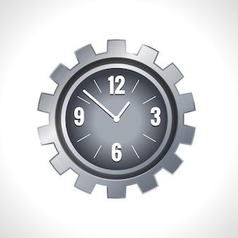 Orologio con ingranaggi in metallo