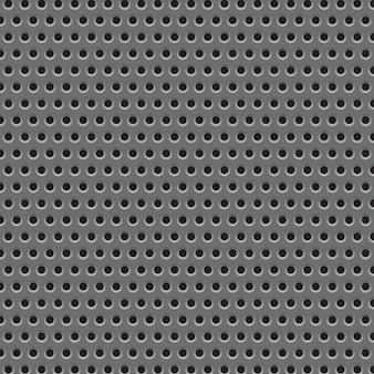 Modello di struttura della griglia di piastra metallica. illustrazione