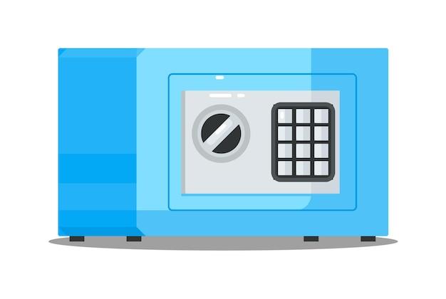 Cassaforte in metallo con serratura digitale per protezione denaro isolata