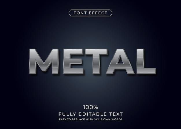 Effetto testo in metallo. stile del font Vettore Premium