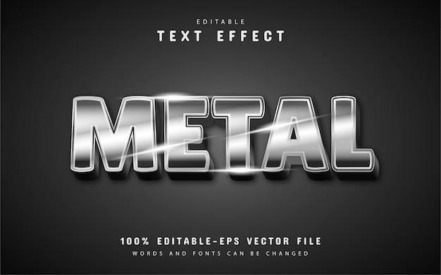 Effetti di testo in metallo