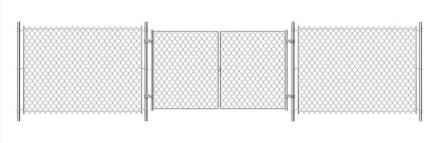 Illustrazione di recinto di filo metallico
