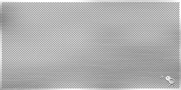 Struttura della rete metallica, fondo metallico dei fori di griglia carta da parati geometrica dei cerchi astratti, illustrazione vettoriale