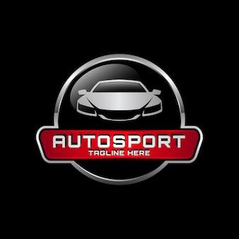 Modello di logo di vettore automobilistico distintivo metallico 04