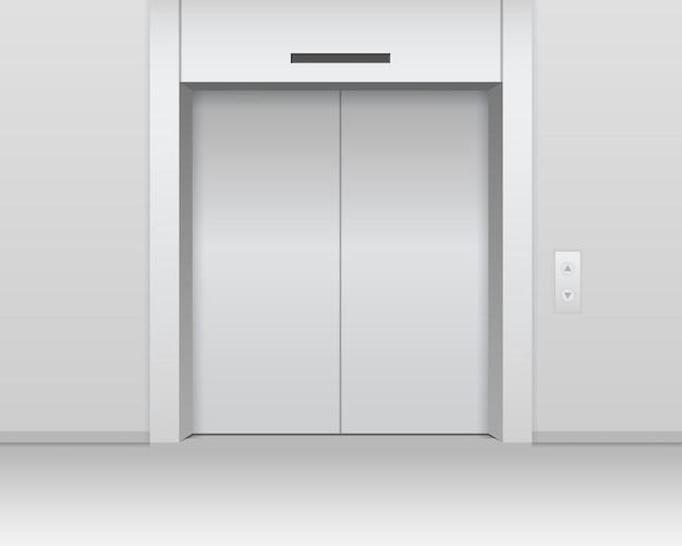 Mockup di ascensore metallico