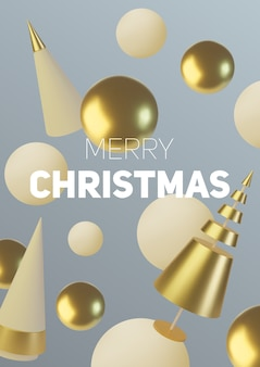 Decorazioni natalizie in oro metallizzato