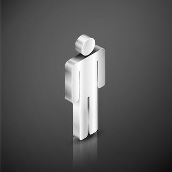Carattere d'argento metallico di infographics. elemento di infographics di persone