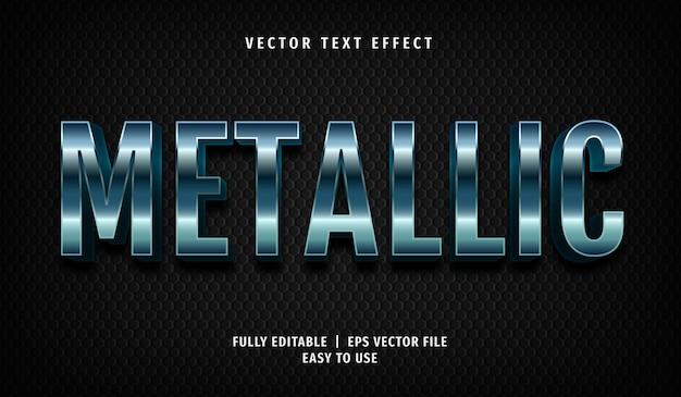Effetto testo metallico, stile di testo modificabile