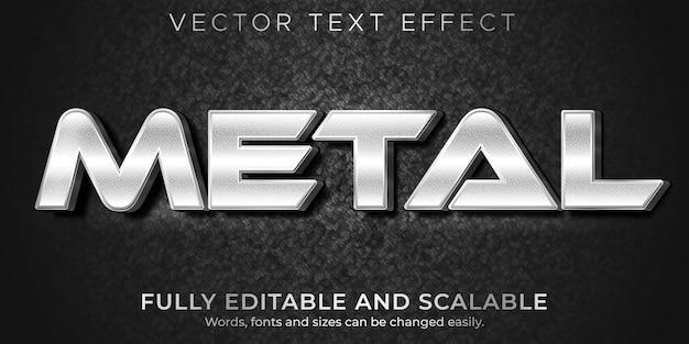 Modello di effetto di testo metallico