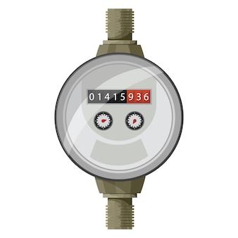 Contatore del contatore. misura della potenza dell'acqua.