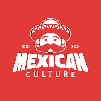 Design del logo mariachi della cultura messicana