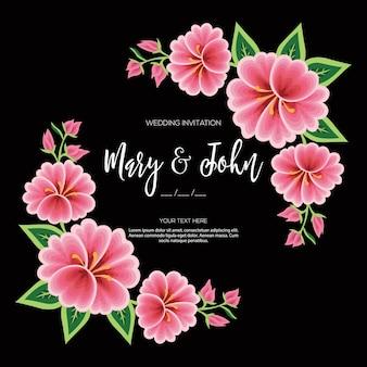 Invito a nozze floreale stile ricamo messicano