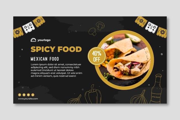 Modello di banner di cibo messicano